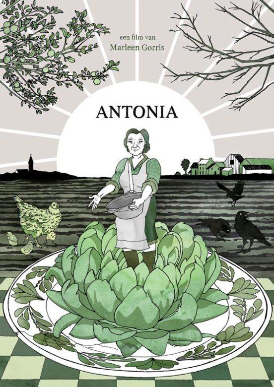 Posterontwerp voor het Oscar-genomineerde 'Antonia'.