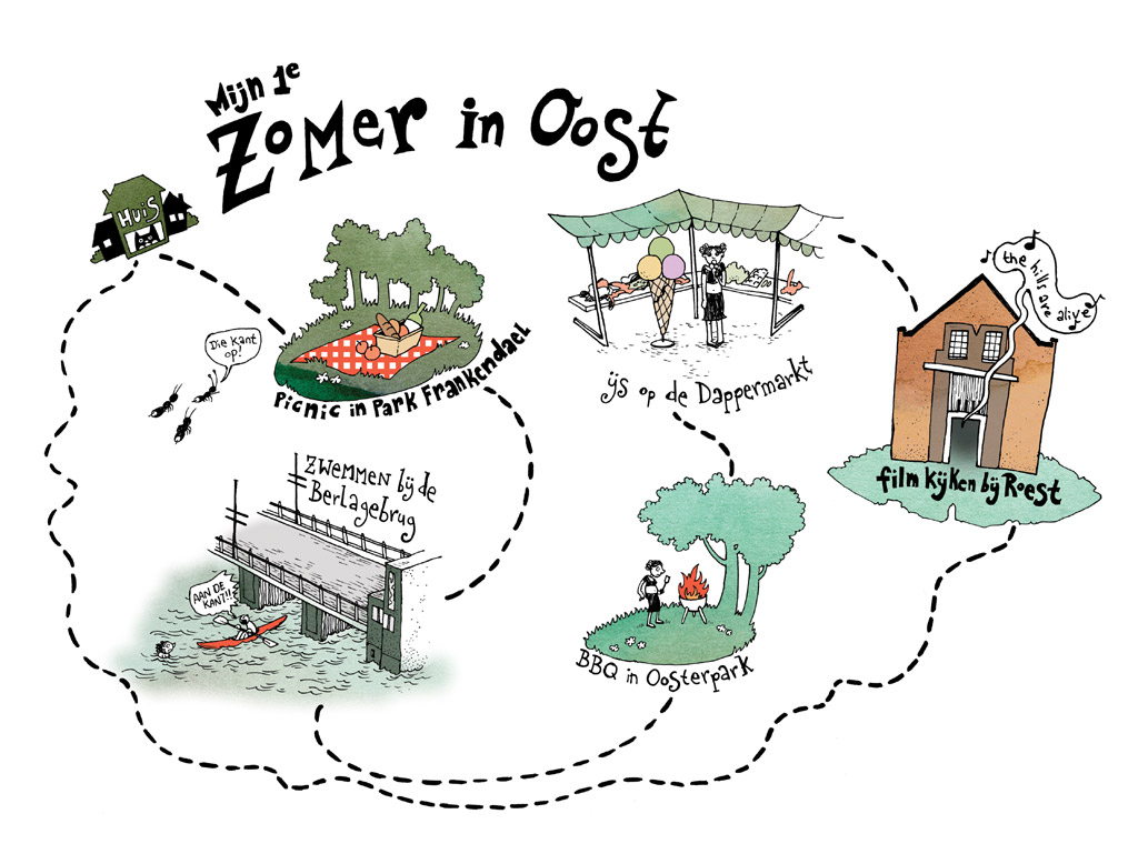 zomer in oost